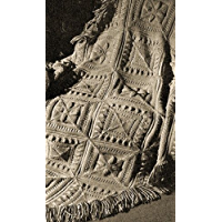 SCULPTURED BLOCK KNITTED AFGHAN - A Vintage 1947 Knitting Pattern ~ Kindle eBook Download (knit, knitted, blanket, throw, crafts, diy)