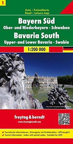 Bayern Süd - Ober- und Niederbayern - Schwaben, Autokarte 1:200.000, freytag & berndt Auto + Freizeitkarten