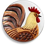 Demdaco 2020160286 Rooster Round Plate, Multicolor