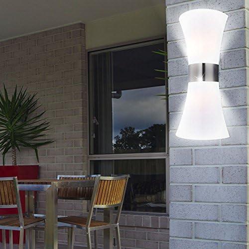 20 Watt LED Wand Leuchte Up & Down Beleuchtung Outdoor Terrasse Balkon modern