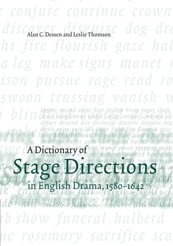 A Dictionary of Stage Directions in English Drama, 1580-1642