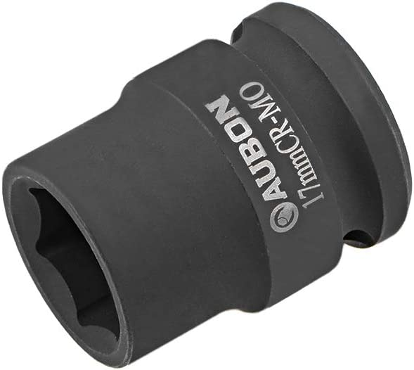 sourcing map 1//2-Inch Drive Shallow Impact Socket 6-Point Cr-Mo Metric 17mm