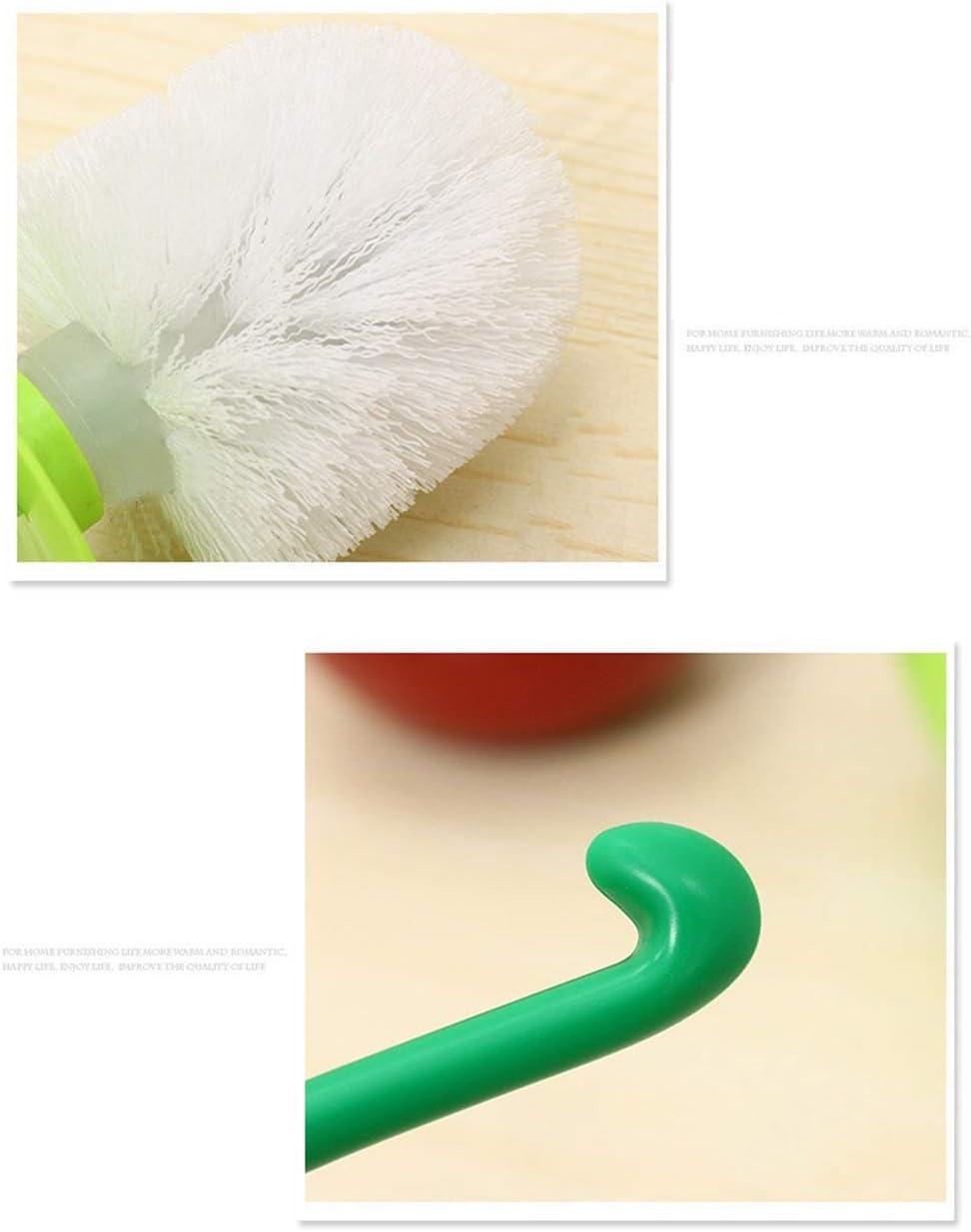 1 Pack Heavy Base Clean Bowl Hideway Compact Holder Strong Bristles for Bathroom Toilet(1 Brush,1 Holder) DORA BRIDAL Toilet Plunger Brush Hold Combo Set