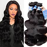 VIPbeauty Brazilian Body Wave 4 Bundles Unprocessed Human Hair Bundles Remy Hair Extensions 10A Real Human Hair Bundles Virgin Brazilian Body Wave (12 14 16 18) Review