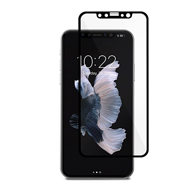 the latest 28185 e2dca Moshi IonGlass Screen Protector for iPhone Xs/iPhone X Black (Clear/Glossy)