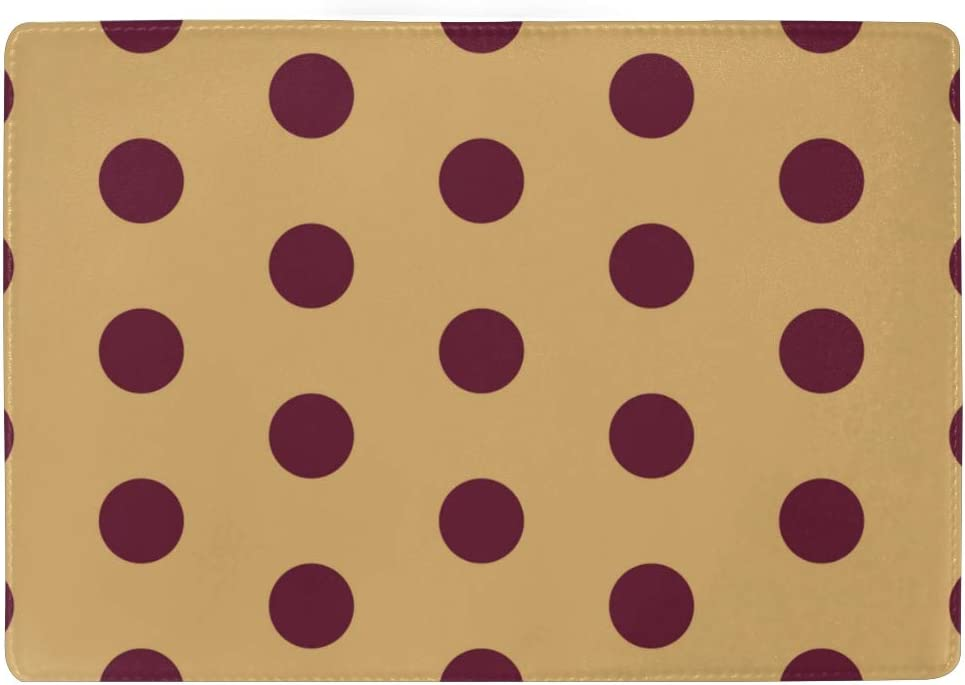 Big Circles And Dots Of Red Color Blocking Print Passport Holder Cover Case Travel Luggage Passport Wallet Card Holder Made With Leather For Men Women Kids Family