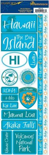 Hawaii Scrapbook Die Cut (Reminisce Passports Combo Sticker, Hawaii)
