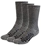 AIvada 80% Merino Wool Hiking Socks Thermal Warm Crew Winter Sock For Men Women 3 Pairs ML