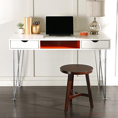 WE Furniture 48″ Wood Computer Desk, Orange