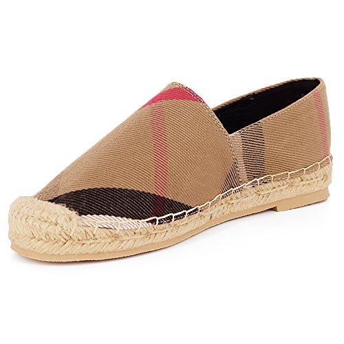 Tengyu Flats Shoes Women's Espadrilles Original Slip On Loafer Shoes Classic Canvas Comfort Alpargatas(US8=EU39=24.5CM) by Tengyu (Image #4)