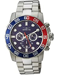 Invicta Mens Pro Diver Quartz Stainless Steel Casual Watch, Color:Silver-Toned (Model: 22225)