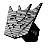 "5'' Transformer Decepticon Carbon fiber 3d Logo Trailer Metal Hitch Cover Fits 2"" Receivers (Black)"