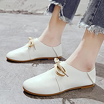 7eaf3e88f0444 GAOLIM Spring Women Shoes Round Head Small White Shoes With A Flat ...