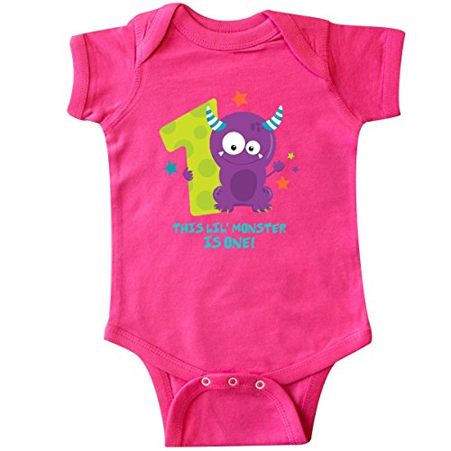 inktastic - Monster 1st Birthday Infant Creeper 12 Months Hot Pink 2c4b6 -