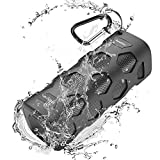 40mm radiator - Wireless Bluetooth Speaker 20W Dual-Driver Waterproof Portable Speakers with 5200mAh Powerbank, Dustproof, Shockproof, Splashproof, Enhanced Bass, Built-In Mic, 24 Hrs Play for Parties & Beach