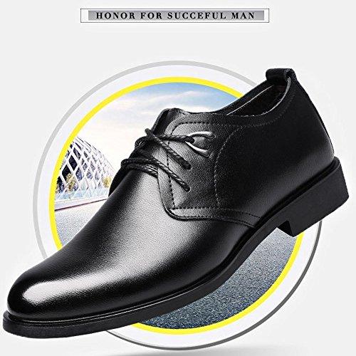 Scsy Para De Suaves Negro Zapatos Planta Arriba Los zapatos Oxford La Pu Planos Vestido Hombres Ata Clásicos Cuero PnIqrP4W