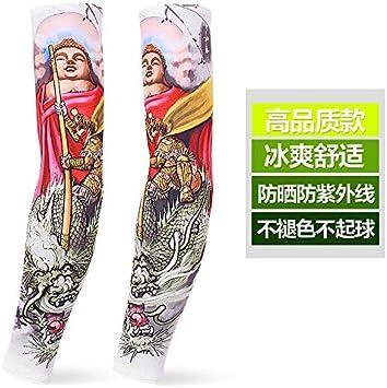 Protector solar Manga Seda de hielo Tatuaje masculino Manga del ...
