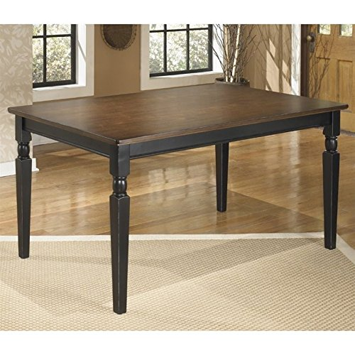 Signature Design by Ashley Owingsville Black/Brown Rectangular Dining Room Table - Ashley Furniture Dining Table