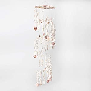 Shop LC Delivering Joy Home Decor White Pink Beautiful for Indoor or Out Door Seashell Wind Chimes