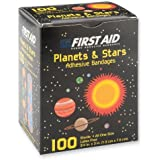 First-aid Planets & Stars Bandages - 100 Per Pack