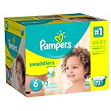 Pampers Swaddlers Disposable Diapers Size 6, 72 Count, GIANT (Packaging May Vary)