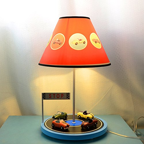 Great St. Creative Racer Resin Table Lamp Children's Room Cartoon Desk Lamp Bedroom Bedside Lamp Fashion Personality Decoration Lighting Reading Lamp FGD (Color : A)