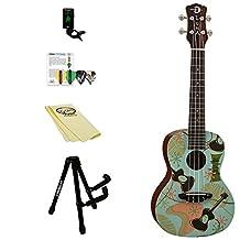 Luna Guitars Concert Ukulele Kit with Gigbag and ChromaCast Accessories, Daddyo