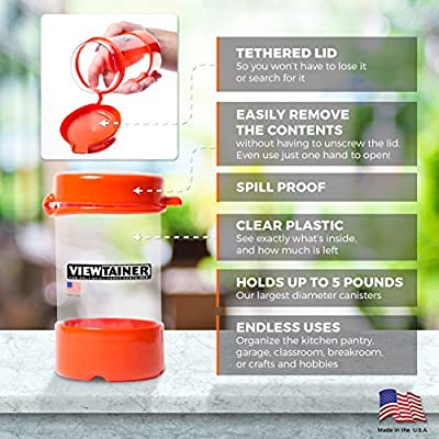 Viewtainer Tethered-Top Container 5-Pack