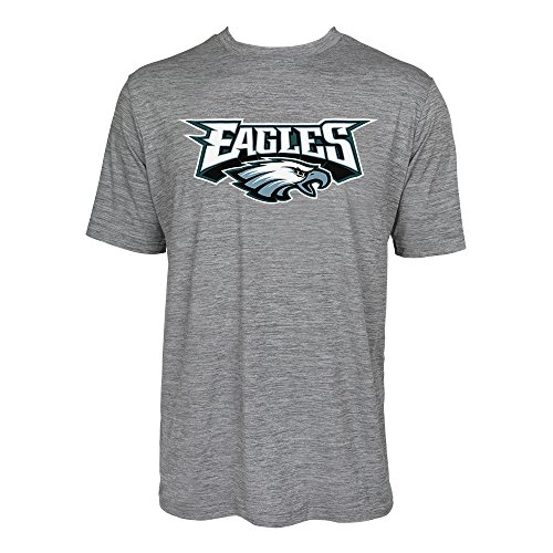 - NFL Philadelphia Eagles Men's Tonal Gray Wordmark Logo Tee, Gray, Small