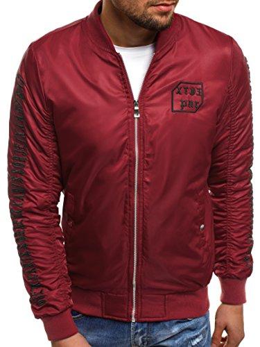 18 nature Hombres Chaqueta Mix de Rojo 5028 de Chaqueta con J Cuero Invierno Vaquera OZONEE 3056 Chaqueta Style Capucha Chaqueta Jacket para H1qXF