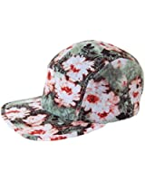 GP Accessories Sunflower Floral All Over Print 5 Panel Camp Cap