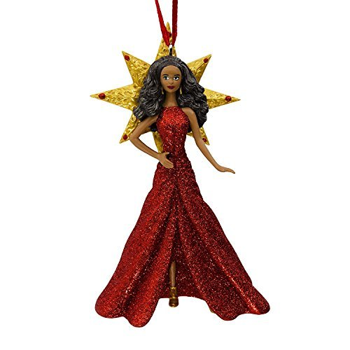2017 Holiday African American Barbie Christmas Ornament by Hallmark (Collectors Christmas Ornaments)