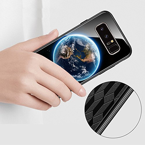 Tempered Glass Cover para Samsung Galaxy Note 8, Vandot 3D 9H Vidrio Cristal Templado + TPU Silicona Bumper Completo Borde Curvo Cubierta de la Caja Lujo Pintado Funda Protector para Samsung Galaxy No Glass 2 -2
