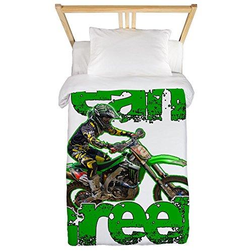 CafePress - Team Green 2013 Twin Duvet - Twin Duvet Cover, Printed Comforter Cover, Unique Bedding, Microfiber