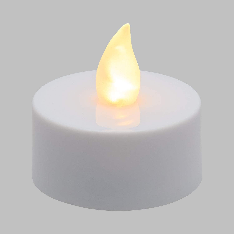 Luces de Navidad Efecto Llama LED Blanco c/álido Velas LED Interior Velas Decorativas XMASKING 8 Luces de t/é con Pilas Mando a Distancia ON//Off