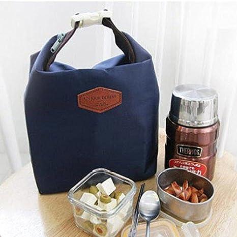 Blue borsa termica per il pranzo con isolamento termico taglia unica borsa termica Bento Akeelii borsa per il pranzo impermeabile