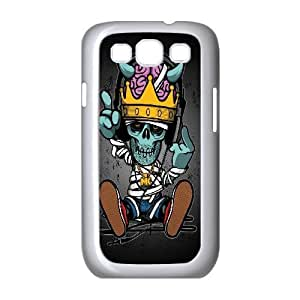 Bloomingbluerose Cute Skull Cases for Samsung Galaxy S3, with White