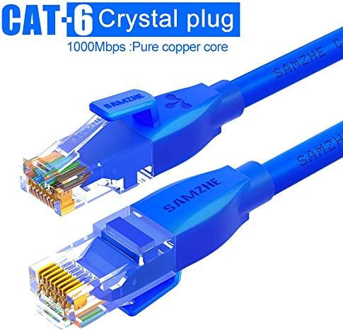 CAT6イーサネットパッチケーブル - RJ45コンピュータ、PS2、PS3は、XboxネットワークLANコードおよび0.5 / 1 / 1.5 / 2/3/5/8月10日/ 12月15日/ 25分の20/40分の30/50/80メートル (Color : BL Pure, Length : 3m)