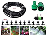 JTW- 13FT Garden Patio Water Mister Air Misting Cooling Micro Irrigation System Sprinkler Nozzle