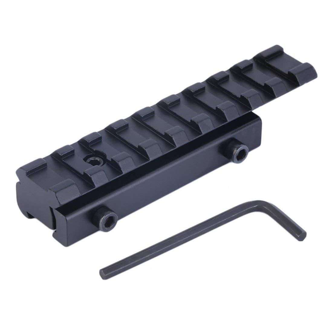 ToGames-FR Extension de Queue d'aronde de 11mm à la Chasse de Base de bâti de Rail de Riser de tisserand 21mm