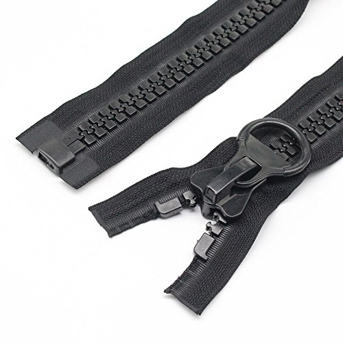 YaHoGa #20 Super Large 80cm Separating Giant Plastic Zippers for Sewing Coats Jackets Overcoats Down Jackets Heavy Duty Large Resin Vislon Zippers (31 Inch) (Jacket Plastic Zipper)