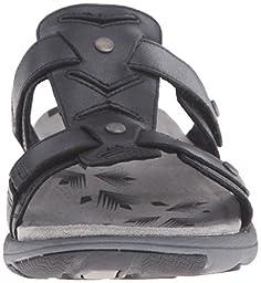 Merrell Women\'s Adhera Slide Sandal, Black, 6 M US