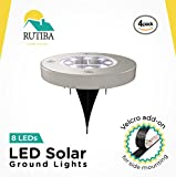 8 LED Super Bright Ground Lights for Garden, Stairs and More (4Pack)