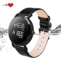 KeeGan Fitness Tracker Activity Tracker with Heart Rate Monitor and Calorie Counter Pedometer Bracelet IP67 Waterproof GPS Tracker Smart Watch for Men Women