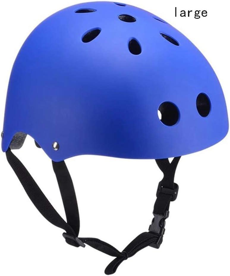 Bicicleta Casco Niño Adulto, Ajustable Casco Bici, Casco Bicicleta Montaña, Skate, Bicicleta de Equilibrio Equipo de Protección Conjunto de 7 Piezas, Adecuado Para Equitación Al Aire Libre,Blue 2
