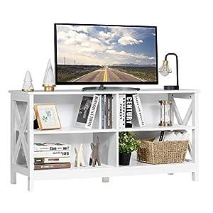 cheap white tv stand