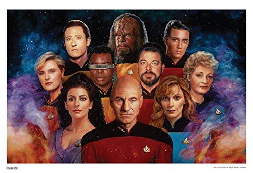 Tng Poster - Pyramid America Star Trek The Next Generation 50th Anniversary TV Show Poster 13x19 inch