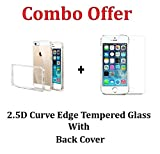 M.G.R.J Transparent Cover + Tempered Glass Screen Protector (Front) for Apple iPhone 5 / 5S / 5C