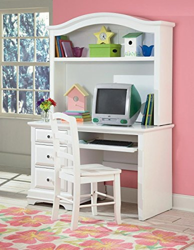 NCF Furniture Beatrice Youth Desk Hutch in White Finish