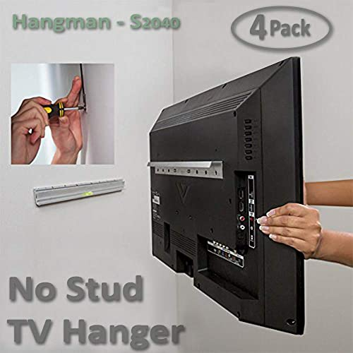 4 Pack Kit Hangman Products – No Stud TV Hanger Mount TVs up to 55-Inch S2040A